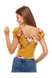 Miley and Molly Floral  Printed Peasant Style Bodysuit - Side cropped