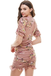 Miley and Molly Floral Ruched V Neck Dress - Other