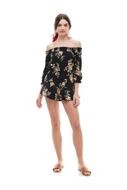 Miley and Molly Floral Smocked Off Shoulder Romper - Side cropped