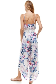 Miley and Molly Floral & Solid Crochet Tulip Leg Cami Jumpsuit - Side cropped