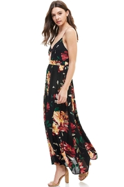 Miley and Molly Floral Spaghetti Strap Maxi Dress - Front full body