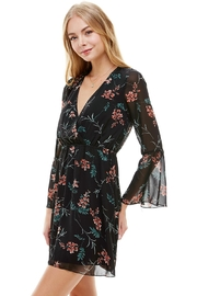 Miley and Molly Floral V Neck Long Sleeve Skater Dress - Side cropped