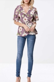 Miley and Molly Floral Wrap Blouse - Product Mini Image