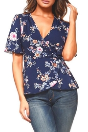 Miley and Molly Floral Wrap Blouse - Front cropped
