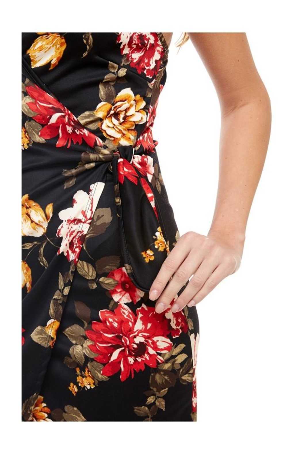 Miley and Molly Floral Wrap Dress - Front Full Image