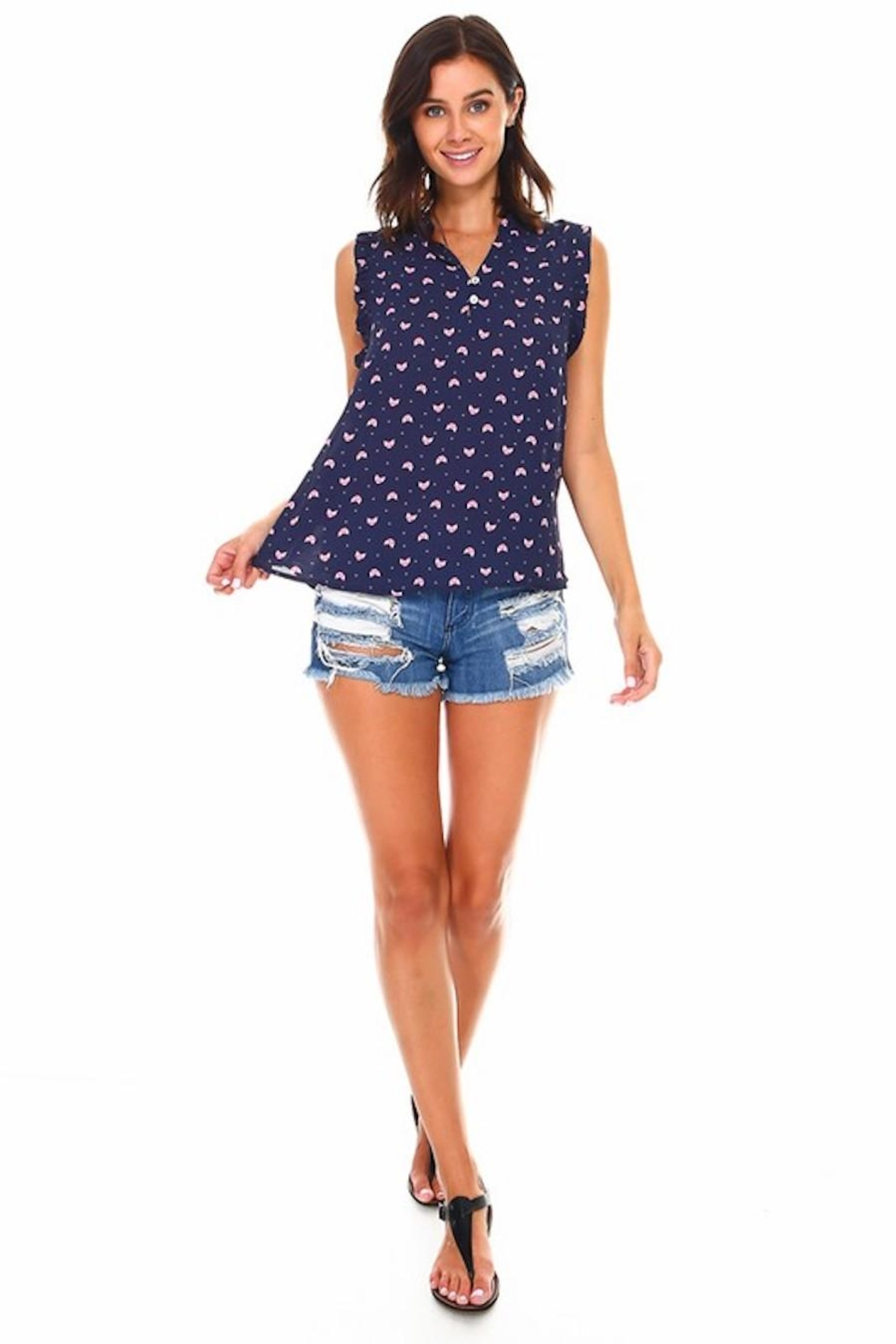 Miley and Molly Foxy Navy Blouse - Front Full Image