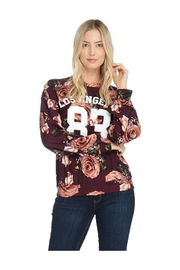 Miley and Molly French Terry Floral Print Sweatshirt - Product Mini Image