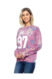 Miley and Molly French Terry Floral Print Sweatshirts - Product Mini Image