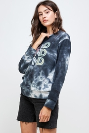 Miley and Molly French Terry Tie Dye Screen Printed Sweatshirts - Product Mini Image
