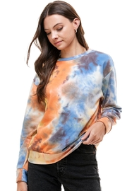 Miley and Molly French Terry Tie Dye Sweatshirts Top - Product Mini Image