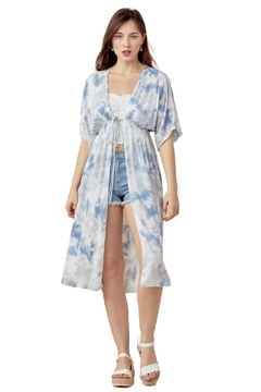 Miley and Molly Front Tie Up Cardigan Oversize Cover Up Cardigan - Product List Image