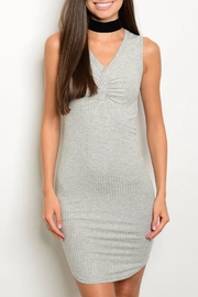 Miley and Molly Gray Jersey Dress - Product Mini Image