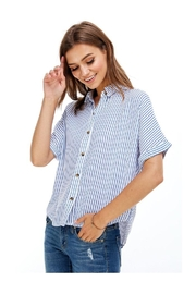 Miley and Molly Hidden Placket Split Back Shirt - Product Mini Image