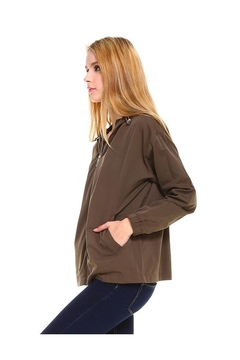 Miley and Molly Hooded Zip Front Windbreaker Jacket Top - Alternate List Image