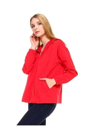 Miley and Molly Hooded Zip Front Windbreaker Jacket Top - Front full body