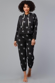 Miley and Molly Hoodie Jogger Set Pajama Pj Loungewear Set Star - Front full body