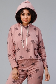 Miley and Molly Hoodie Jogger Set Pajama Pj Loungewear Set Star - Front cropped