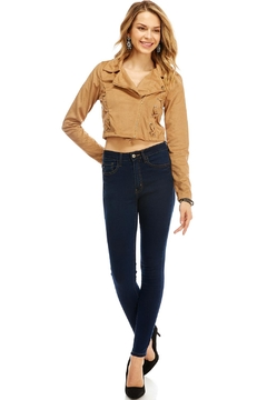 Miley and Molly Jacket Suede Moto W/xxx Detail Jacket - Alternate List Image