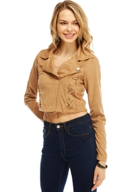 Miley and Molly Jacket Suede Moto W/xxx Detail Jacket - Product Mini Image
