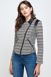 Kaii Jacquard Biker Jacket Top - Product Mini Image