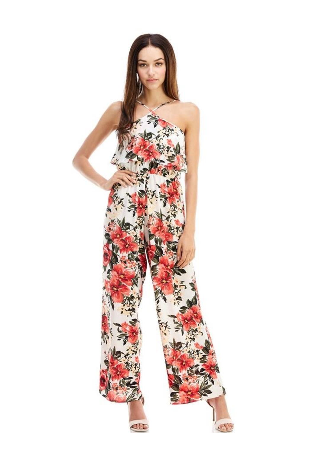 Miley and Molly Jumpsuits Floral Print Halter Neck Jumpsuit - Main Image