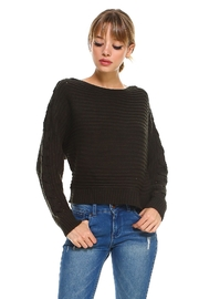 Miley and Molly Lace Up Sleeve Detail Sweater Top - Product Mini Image