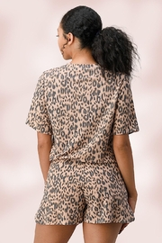 Miley and Molly Leopard Lounge Wear Set Pj Pajama Set - Side cropped
