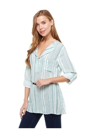 Miley and Molly Long Sleeve Button Front Shirt - Product Mini Image