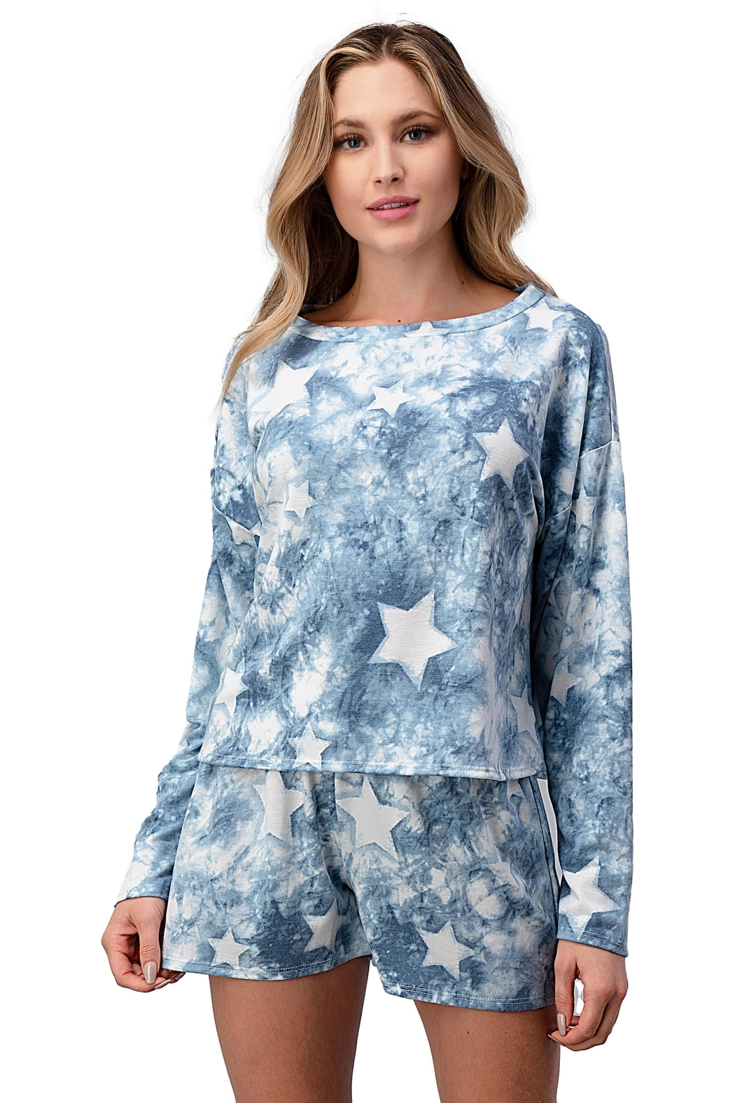 Miley and Molly Lounge Wear Pajama Set With Star Matching Set - Main Image