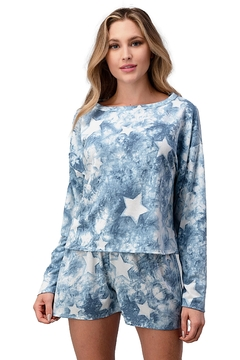 Miley and Molly Lounge Wear Pajama Set With Star Matching Set - Product List Image