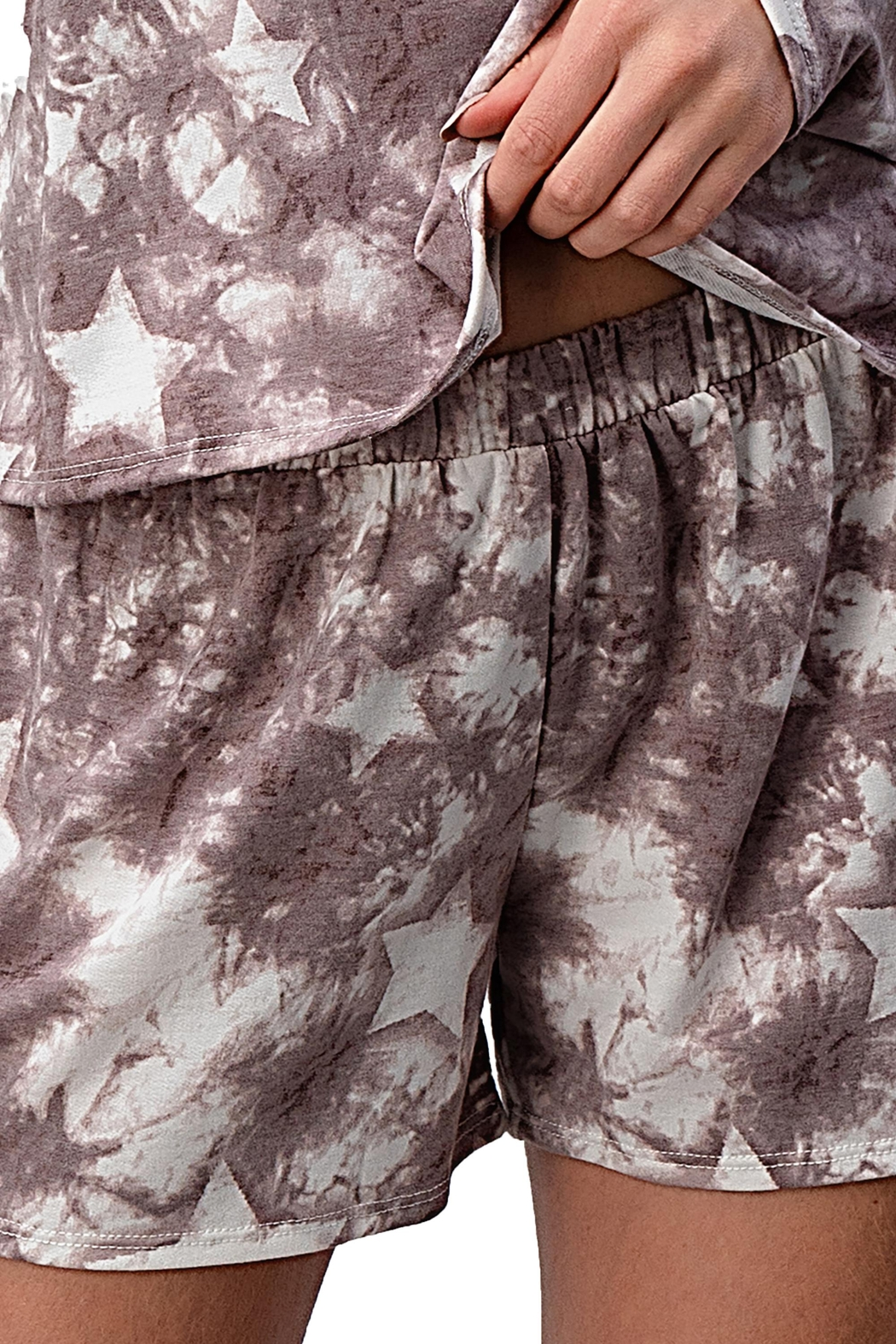 Miley and Molly Lounge Wear Pajama Set With Star Matching Set - Front Full Image