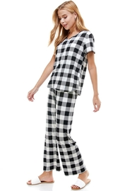 Miley and Molly Lounge Wear Set For Women Checker Pajama Set - Product Mini Image