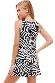 Miley and Molly Lounge Wear Set Zebra Leopard Animal Sleeveless Top And Short - Back cropped