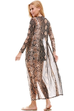 Miley and Molly Mesh Long Sleeve Snake Duster Cardigan - Alternate List Image
