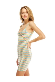 Miley and Molly Multi Stripe Button Detail Tank Dress - Side cropped