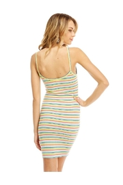 Miley and Molly Multi Stripe Button Detail Tank Dress - Back cropped