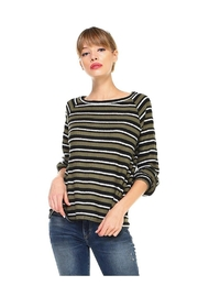 Miley and Molly Multi Stripe Long Sleeve Pull On Top - Product Mini Image