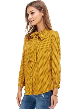 Miley and Molly Mustard Tie Blouse - Alternate List Image