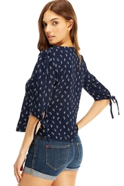 Miley and Molly Navy Arrow Leafs Blouse - Side cropped