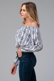 Miley and Molly Off Shoulder Blouse Fashion Top - Front full body