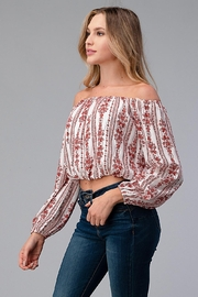 Miley and Molly Off Shoulder Blouse Fashion Top - Side cropped