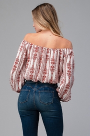 Miley and Molly Off Shoulder Blouse Fashion Top - Back cropped