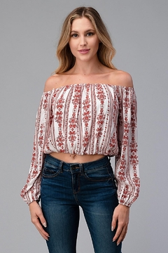 Miley and Molly Off Shoulder Blouse Fashion Top - Product List Image