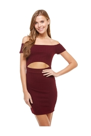 Miley and Molly Off Shoulder Body Contour Dress - Product Mini Image