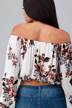 Miley and Molly Off Shoulder Floral Blousant Tube Tank Top - Alternate List Image