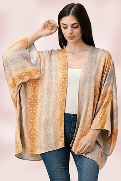 Miley and Molly Oversized Kimono In Snake Skin Printed Cardigan - Product List Image