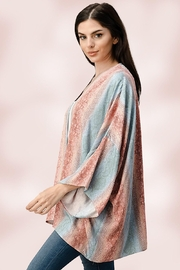 Miley and Molly Oversized Kimono In Snake Skin Printed Cardigan - Side cropped