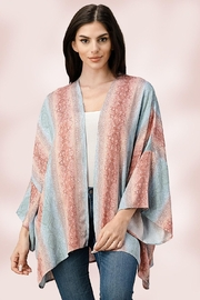 Miley and Molly Oversized Kimono In Snake Skin Printed Cardigan - Front cropped