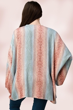 Miley and Molly Oversized Kimono In Snake Skin Printed Cardigan - Alternate List Image