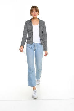 Miley and Molly Plaid Long Sleeve Blazer Jacket Top - Alternate List Image
